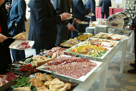 food catering on buffet table